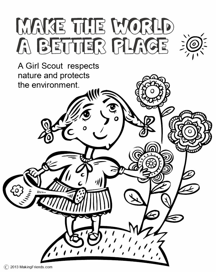 Scout leader 411 blog daisy make the world a better for Girl scout coloring pages for daisies