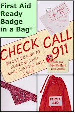 First Aid Ready Badge in a Bag
