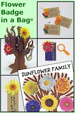 Girl Scout Flower Badge in a Bag