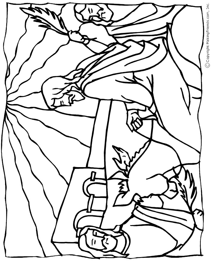 palm sunday coloring pages printable - photo#18