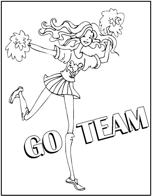 barbie cheerleading coloring pages - photo#32