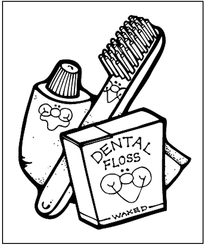dental coloring pages for preschoolers - photo#25