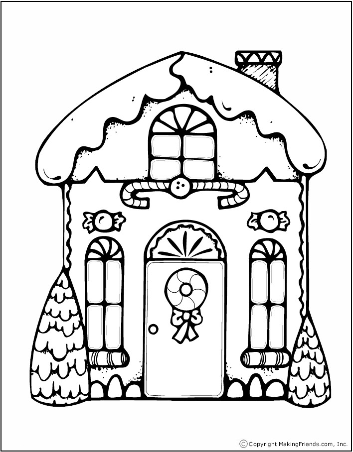 coloring book pages house - photo#9