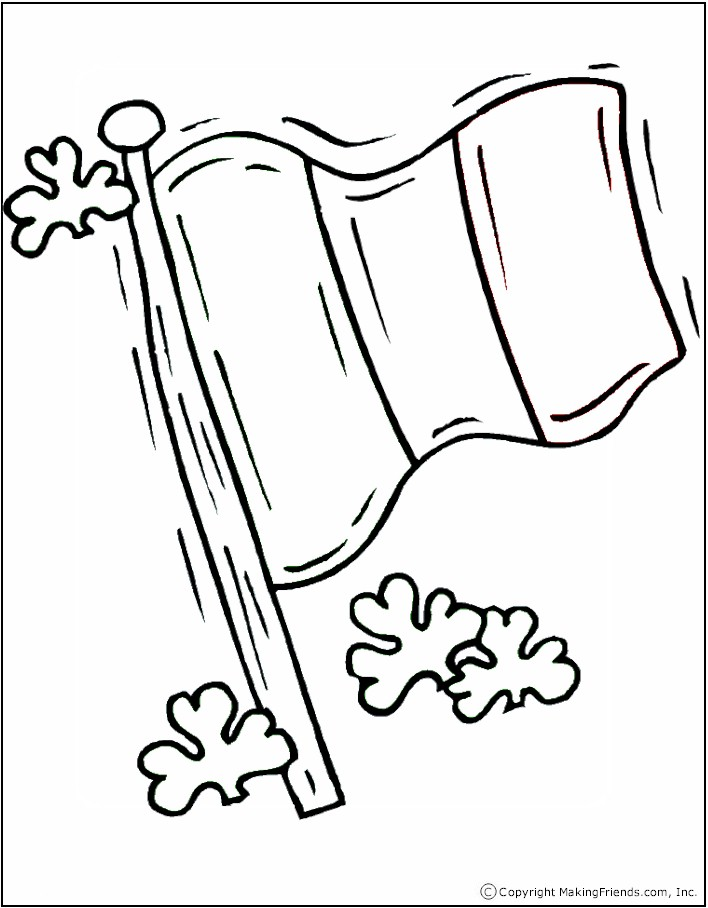 Colouring Pages Ireland : Irish flag coloring page