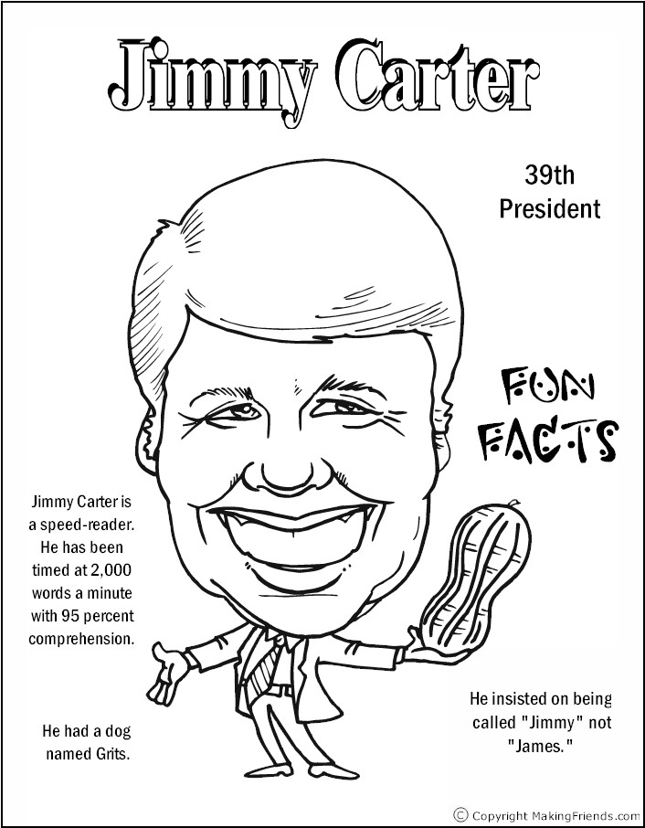 jimmy carter coloring page jimmy carter coloring page