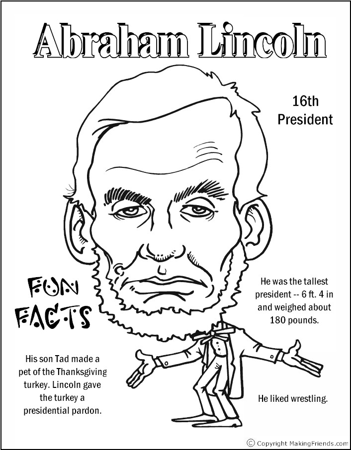 presidents coloring pages printable - photo#30