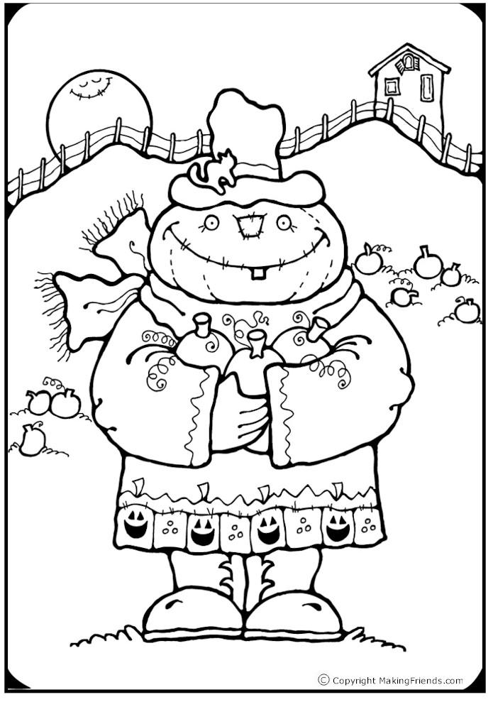 Pumpkinhead Coloring Page