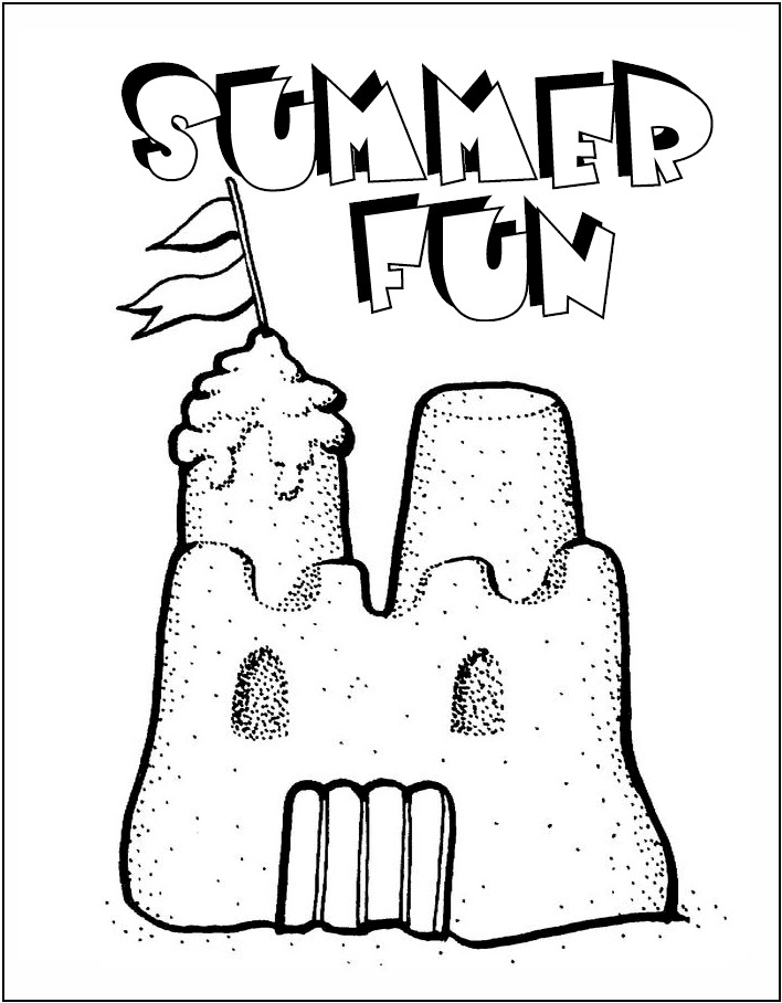 Sand Castle Coloring Pages Images amp Pictures Becuo