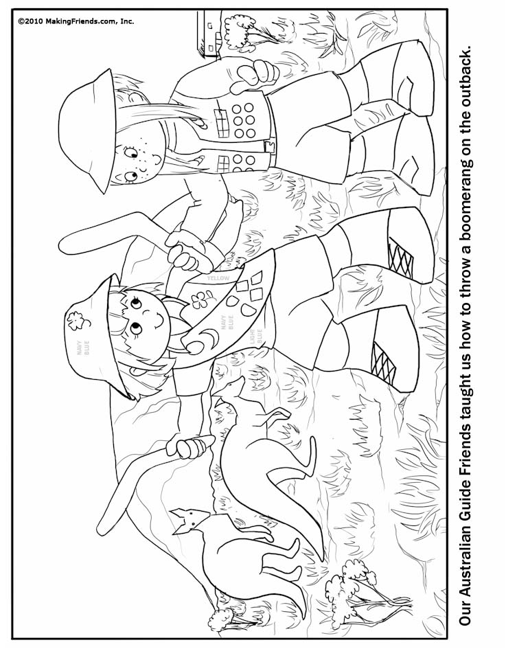 australian girl guide coloring page makingfriendsmakingfriends