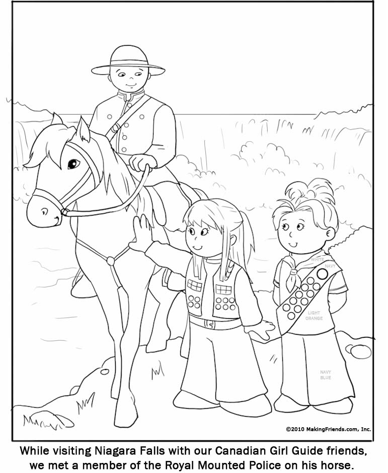 Canadian Girl Guide Coloring Page MakingFriendsMakingFriends