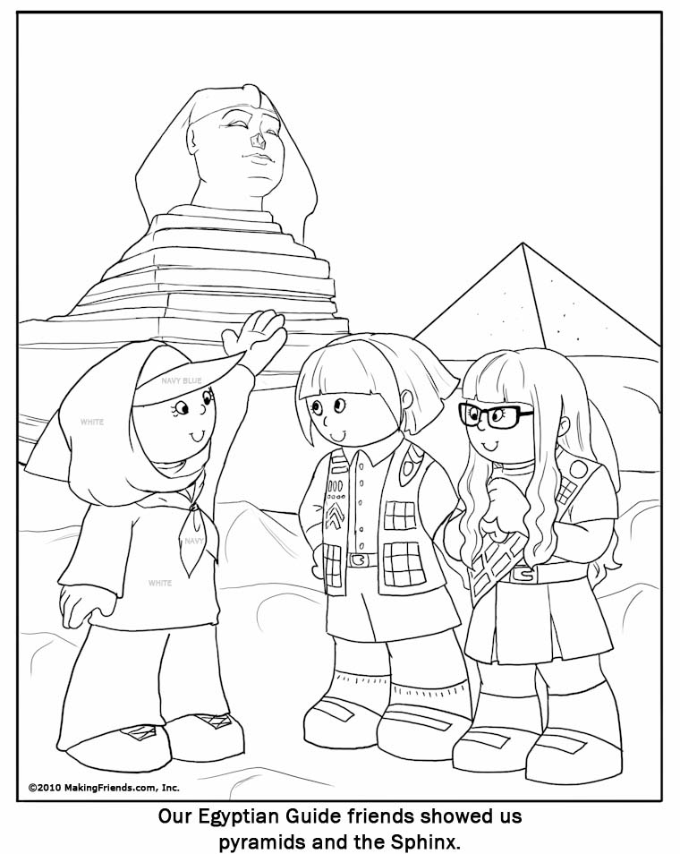 eygyption coloring pages | Egyptian Girl Guide Coloring Page - MakingFriendsMakingFriends