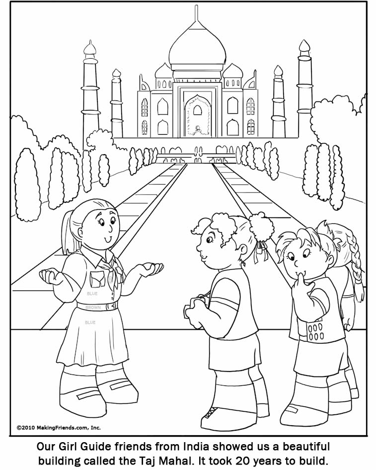 Indian Girl Guide Coloring Page Guide Coloring Pages