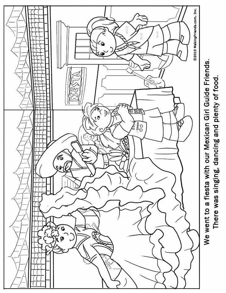 Free coloring pages of bandera de mexico for Coloring pages of mexico