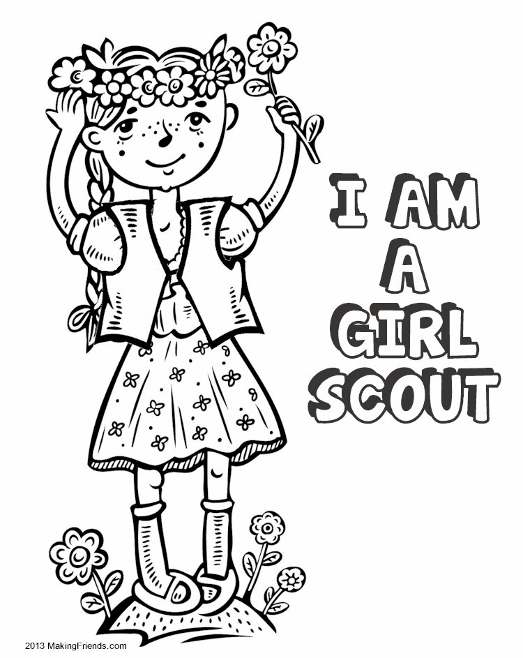 Printable scout brownie coloring pages coloring pages for Brownie coloring pages printable