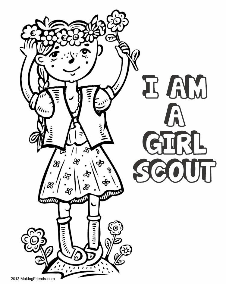 Printable Scout Brownie Coloring