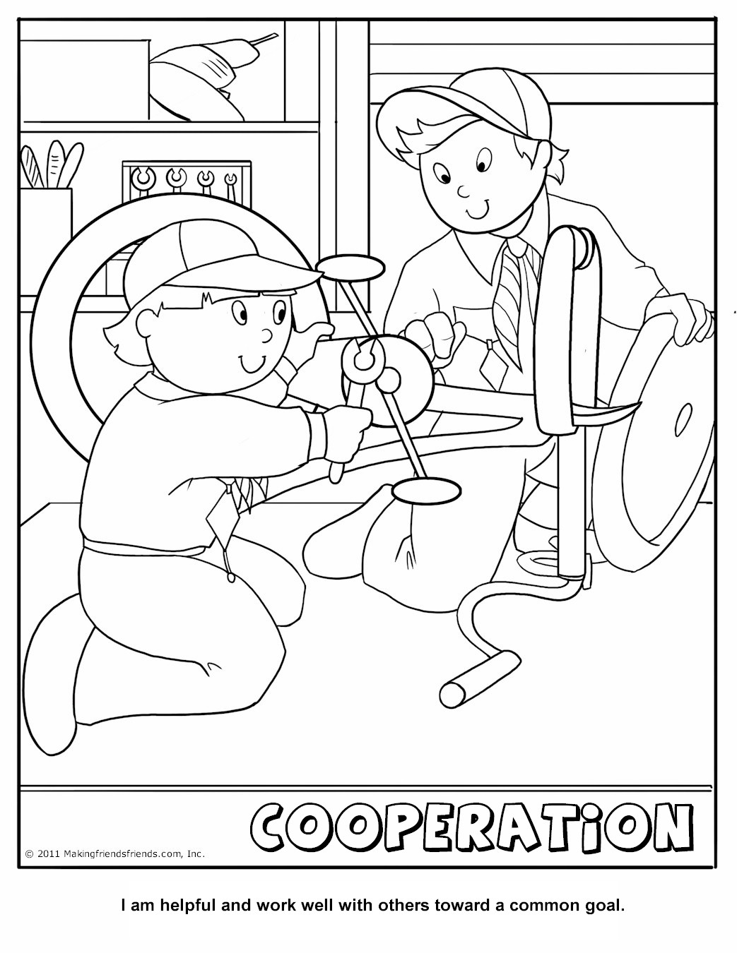 Cub Scout Cooperation Coloring Page Boy Scout Coloring Pages Free Free