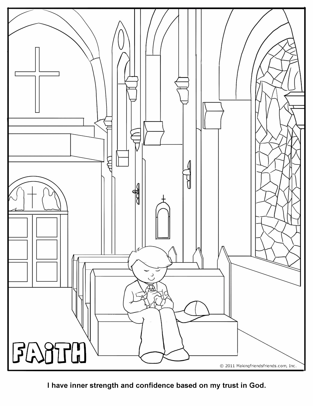 Cub Scout Faith Coloring Page