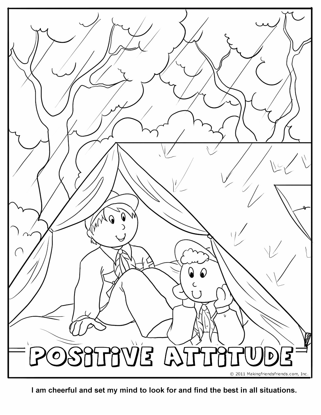cub scout coloring pages free - photo#24