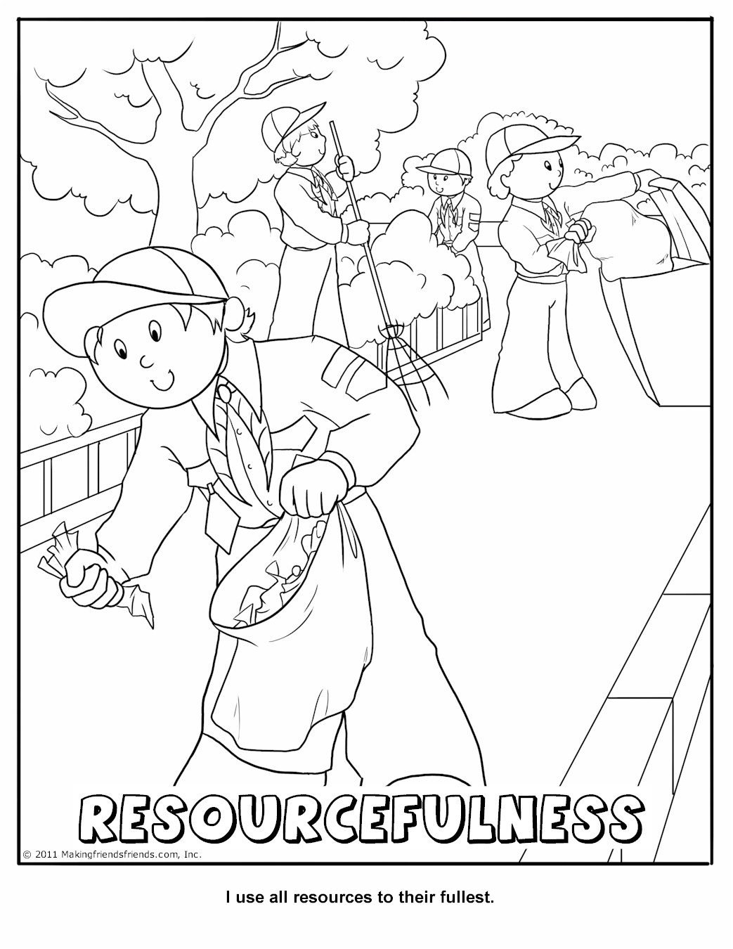 cub scout coloring pages free - photo#16