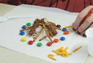 Wizard of Oz theme camping party and ceremony Edible Campfire