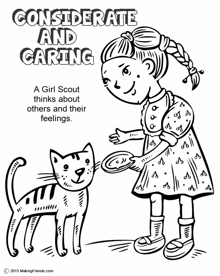 girl scouts law coloring pages - photo#2