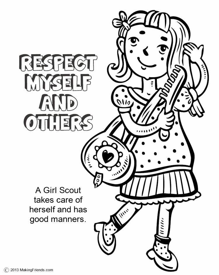 Girl scouts respect myself and others
