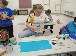 Girl Scout Duct Tape Crafting
