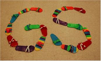 Girl Scout Duck Tape Flip Flops