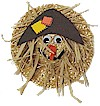 Straw Hat Scarecrow Craft