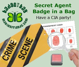 Secret Agent Badge in a Bag