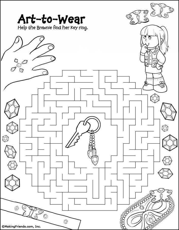brownie printable coloring pages - photo#24