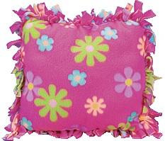 How To Make A Tie Throw Pillow : Fleece Tie Pillow