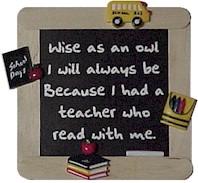 Teacher s chalkboard magnet