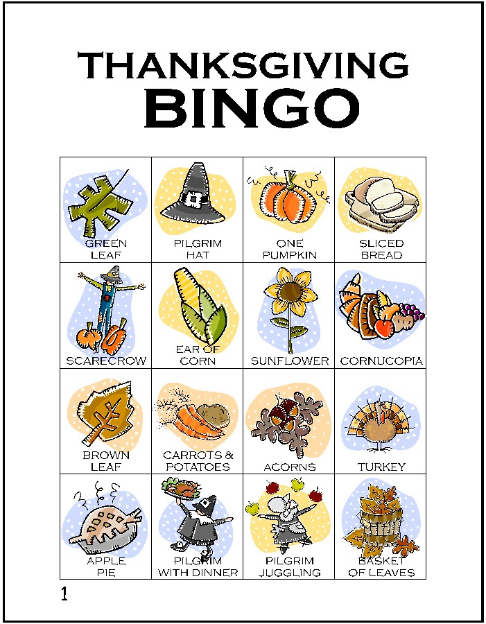 It's just a photo of Declarative Free Printable Thanksgiving Bingo