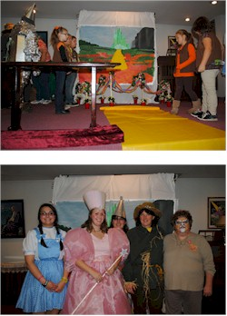 Wizard of Oz theme camping party and ceremony Bridging Award Ceremony
